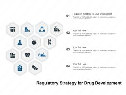 Regulatory Strategy For Drug Development Ppt Powerpoint Presentation Icon Ideas