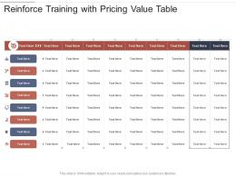 Reinforce Training With Pricing Value Table Infographic Template