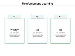Reinforcement Learning Ppt Powerpoint Presentation Pictures Slides Cpb