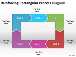 reinforcing rectangular process diagram powerpoint templates infographics images 21