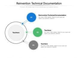 Reinvention Technical Documentation Ppt Powerpoint Presentation Styles Influencers Cpb