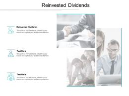 Reinvested Dividends Ppt Powerpoint Presentation Styles Smartart Cpb