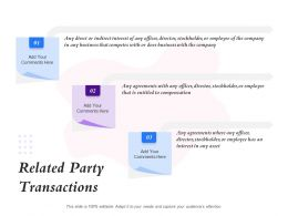 Related Party Transactions Entitled To Compensation Ppt Powerpoint Presentation Good