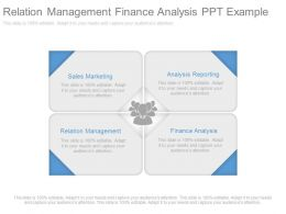 Relation Management Finance Analysis Ppt Example