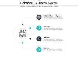 Relational Business System Ppt Powerpoint Presentation Show Portfolio Cpb