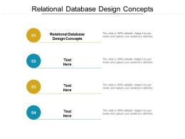 Relational Database Design Concepts Ppt Powerpoint Presentation Styles Files Cpb
