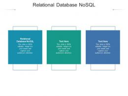 Relational Database NoSQL Ppt Powerpoint Presentation Slides Icons Cpb