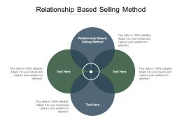 Relationship Based Selling Method Ppt Powerpoint Presentation Infographic Template Ideas Cpb