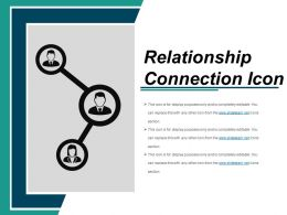 Relationship Connection Icon Sample Ppt Presentation
