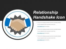 Relationship Handshake Icon Good Ppt Example
