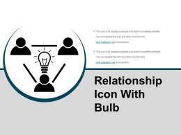 Relationship Icon With Bulb Powerpoint Graphics