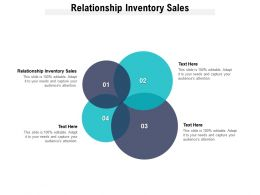 Relationship Inventory Sales Ppt Powerpoint Presentation Slides File Formats Cpb