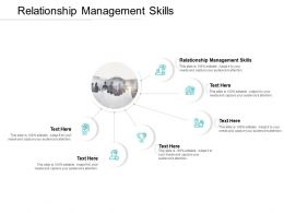Relationship Management Skills Ppt Powerpoint Presentation Pictures Cpb