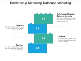 Relationship Marketing Database Marketing Ppt Powerpoint Presentation Pictures Example Cpb