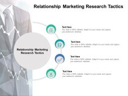 Relationship Marketing Research Tactics Ppt Powerpoint Presentation Icon Templates Cpb