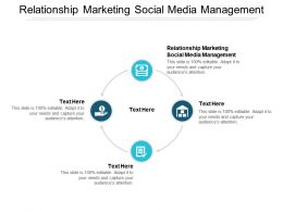 Relationship Marketing Social Media Management Ppt Powerpoint Presentation Example Cpb