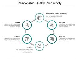 Relationship Quality Productivity Ppt Powerpoint Presentation Infographics Sample Cpb