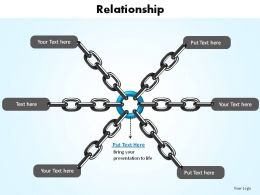 relationship shown with chains connected slides presentation diagrams templates powerpoint info graphics