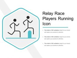 Relay Race Players Running Icon