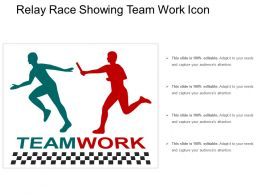 Relay Race Showing Team Work Icon