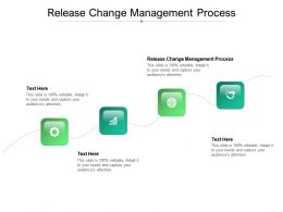 Release Change Management Process Ppt Powerpoint Presentation Ideas Format Ideas Cpb