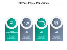 Release Lifecycle Management Ppt Powerpoint Presentation Pictures Brochure Cpb