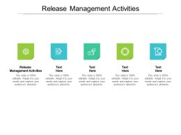 Release Management Activities Ppt Powerpoint Presentation Styles Slides Cpb