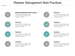 Release Management Best Practices Ppt Powerpoint Presentation Tips Cpb