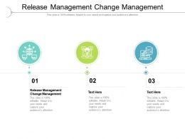 Release Management Change Management Ppt Presentation Pictures Shapes Cpb