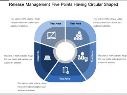 Release Management Five Points Having Circular Shaped