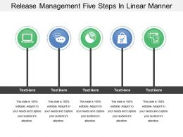 Release Management Five Steps In Linear Manner