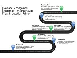 Release Management Roadmap Timeline Having Year In Location Pointer