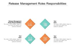 Release Management Roles Responsibilities Ppt Powerpoint Presentation Gallery Clipart Cpb