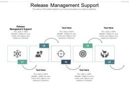 Release Management Support Ppt Powerpoint Presentation Icon Outline Cpb
