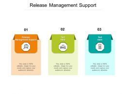 Release Management Support Ppt Powerpoint Presentation Icon Skills Cpb