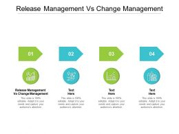 Release Management Vs Change Management Ppt Powerpoint Presentation Icon Introduction Cpb