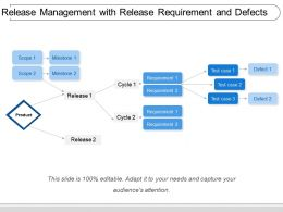 Release Management With Release Requirement And Defects