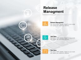 Release Managment Ppt Powerpoint Presentation Inspiration Cpb