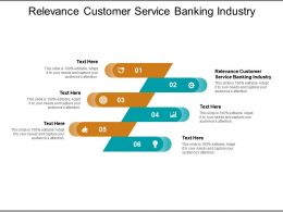 Relevance Customer Service Banking Industry Ppt Powerpoint Presentation Summary Cpb