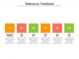 Relevance Feedback Ppt Powerpoint Presentation Infographics Example Cpb