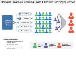 Relevant Prospects Incoming Leads Filter With Converging Arrows