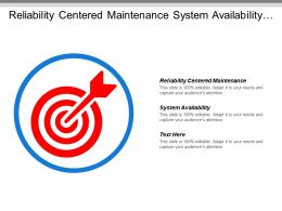 Reliability Centered Maintenance System Availability Life Cycle Costing