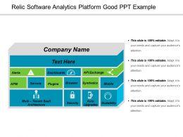 Relic Software Analytics Platform Good Ppt Example