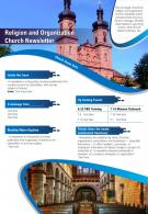 Religion And Organization Church Newsletter Presentation Report Infographic PPT PDF Document