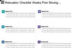 Relocation Checklist Weeks Prior Moving Changing Location