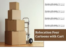 Relocation Four Cartoons With Cart