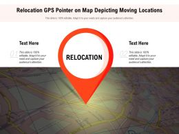 Relocation GPS Pointer On Map Depicting Moving Locations