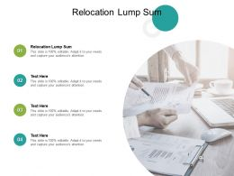 Relocation Lump Sum Ppt Powerpoint Presentation Pictures Ideas Cpb