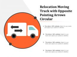 Relocation Moving Truck With Opposite Pointing Arrows Circular