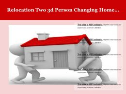 Relocation Two 3d Person Changing Home Location